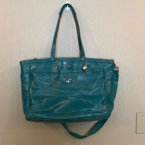Coach Patent Leather Diaper Travel Tote Bag